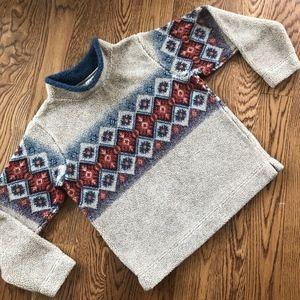 Cabala's M Fair Isle Nordic Mock Neck Fleece